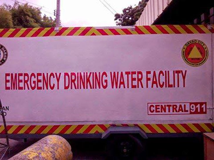 Davao's Emergency Drinking Water Facility