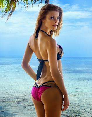 Nina Agdal hot model Beach Bunny sexy bikini