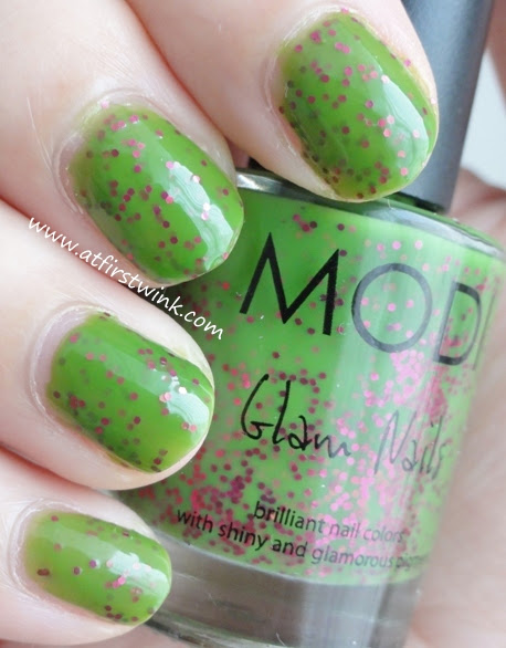 Modi Glam Nails nail polish 77 - Pinky Green