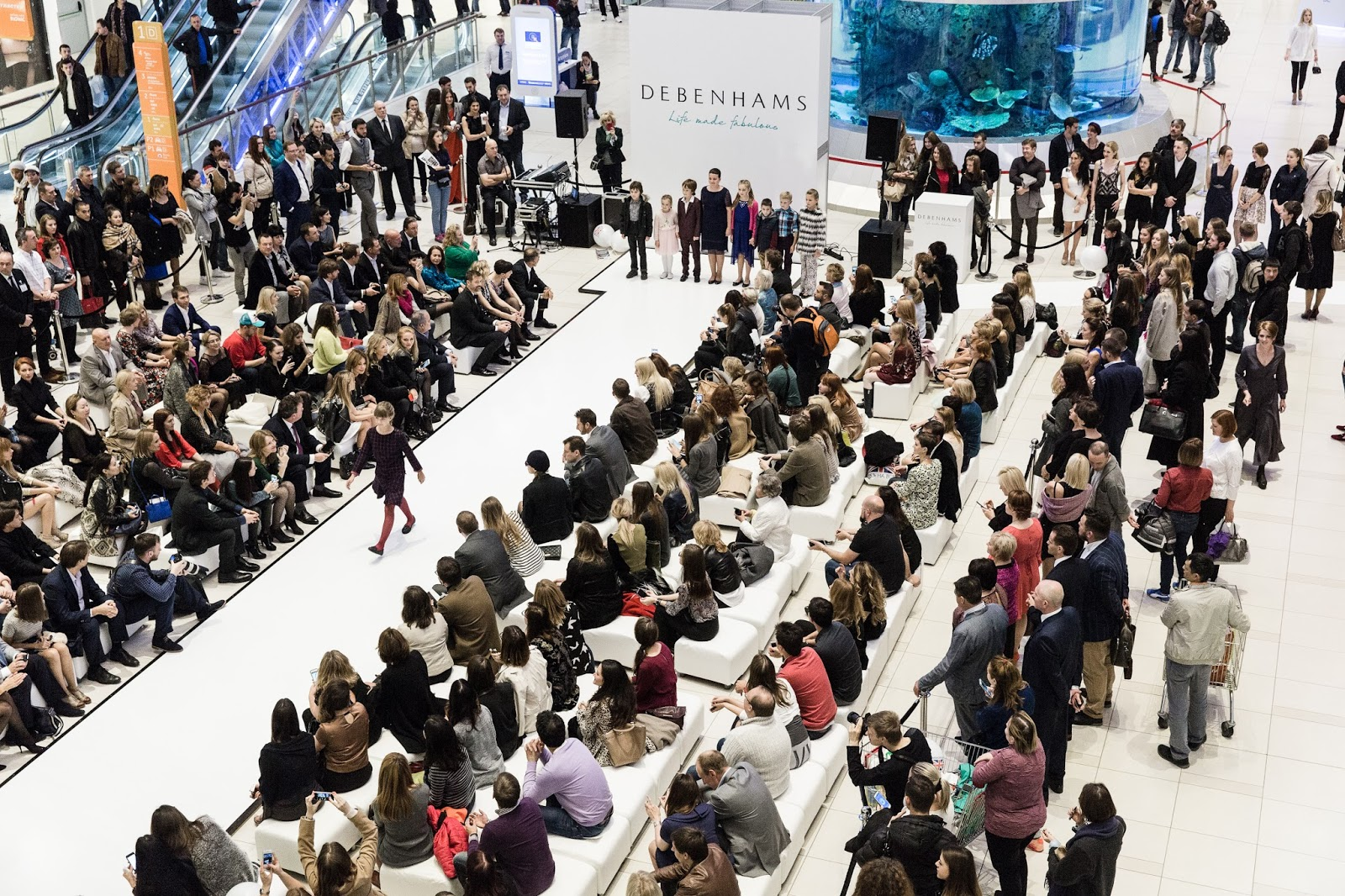 Debenhams store opening in Moscow