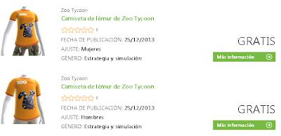Camiseta del juego Zoo Tycoon gratis.