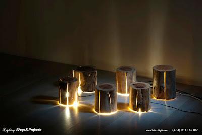 Log Cracked Lamp - Duncan Meerding