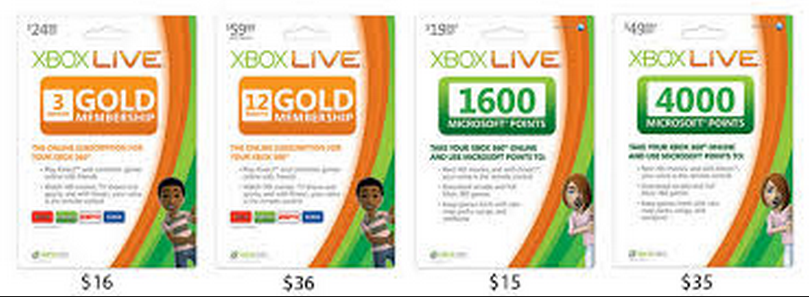 how to use a giftcard to get xbox live
