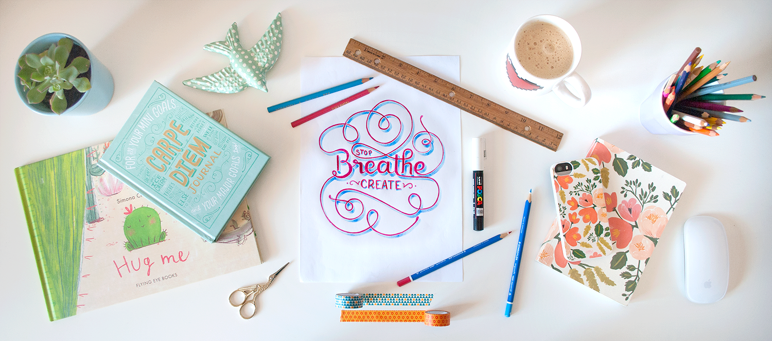 stop. breathe. create.