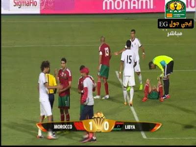 اهداف مبارة المغرب وليبيا 1 : 0 فى تصفيات كأس أمم أفريقيا 12/6/2015