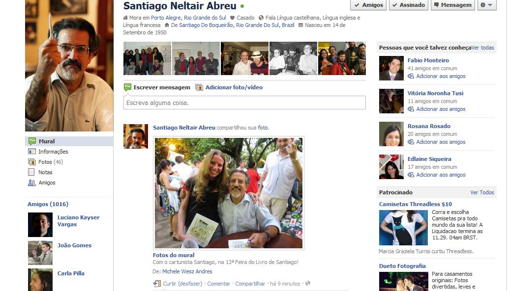 Michele andres no facebook do santiago for Cactario santiago