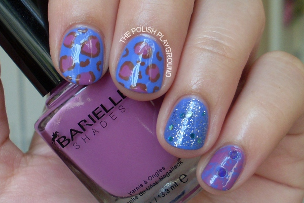 Leopard Print and Saran Wrap Nails