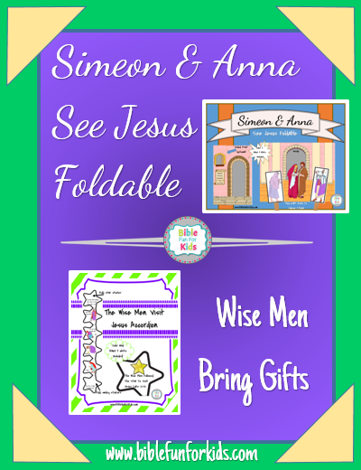 Simeon Anna See Jesus The Wise Men Bring Gifts Preschool Projects