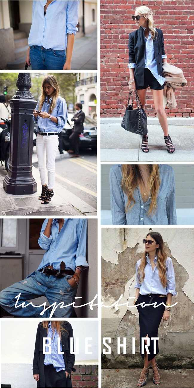 blue shirt, inspiration, inspirational board, trends, basic, fashion blogger, style blog, maja wyh