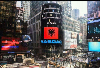 Nasdaq celebra il 100° anniversario dell'Indipendenza Albania