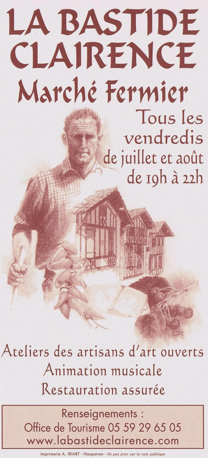 Office de tourisme du pays de hasparren et de la bastide clairence march s fermiers la bastide - Office de tourisme hasparren ...