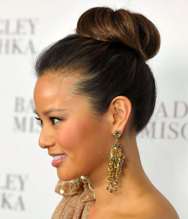 Beyond The Aisle Fall Hair Trend Ballet Bun Wedding Hairstyles