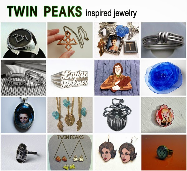 Twin Peaks inspired Jewelry