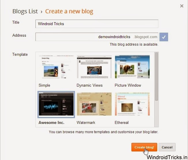 How to create a free blog using Blogger.com and Earn Money