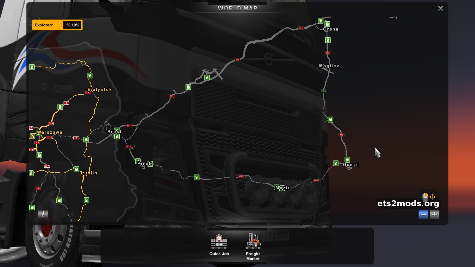 Download Rusmap 1 2 Map Mod By Aldimattor For Euro Truck Simulator 2 Tested On 1 10 1 Version
