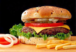 Fast food, comida rápida, comida basura