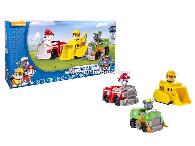 Nickelodeon, Paw Patrol   Rescue Racers 3pk Vehicle Set Marshal Rubble,  Rocky