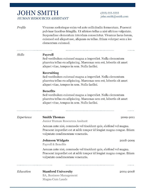 simple resume example download template