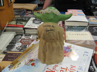 """Weird Al"" Yankovic, Yoda, puppet, Star Wars, autographed"