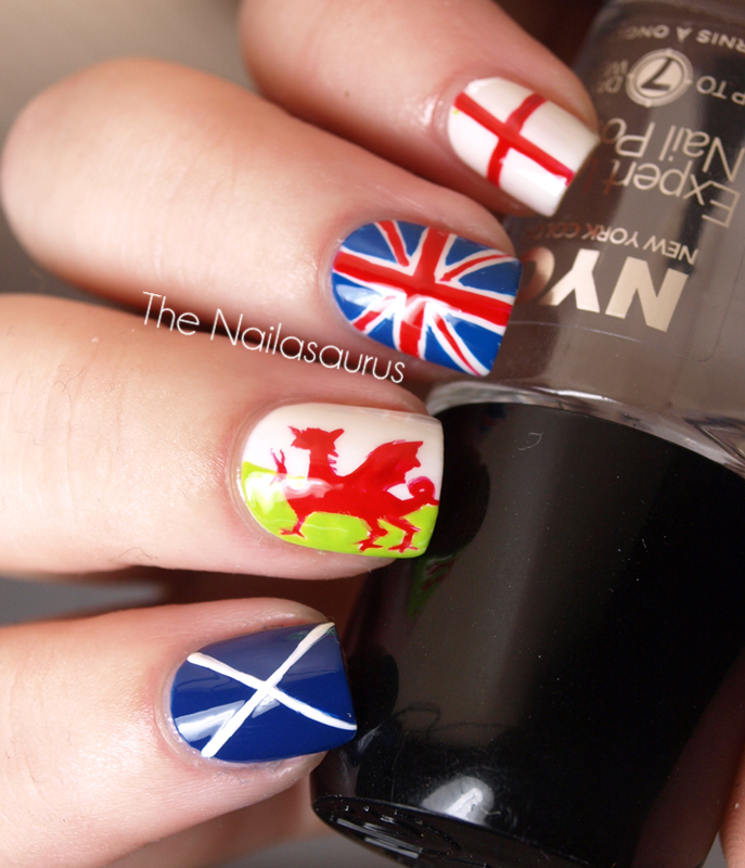 Cherrisisima: British Flag Nail Art