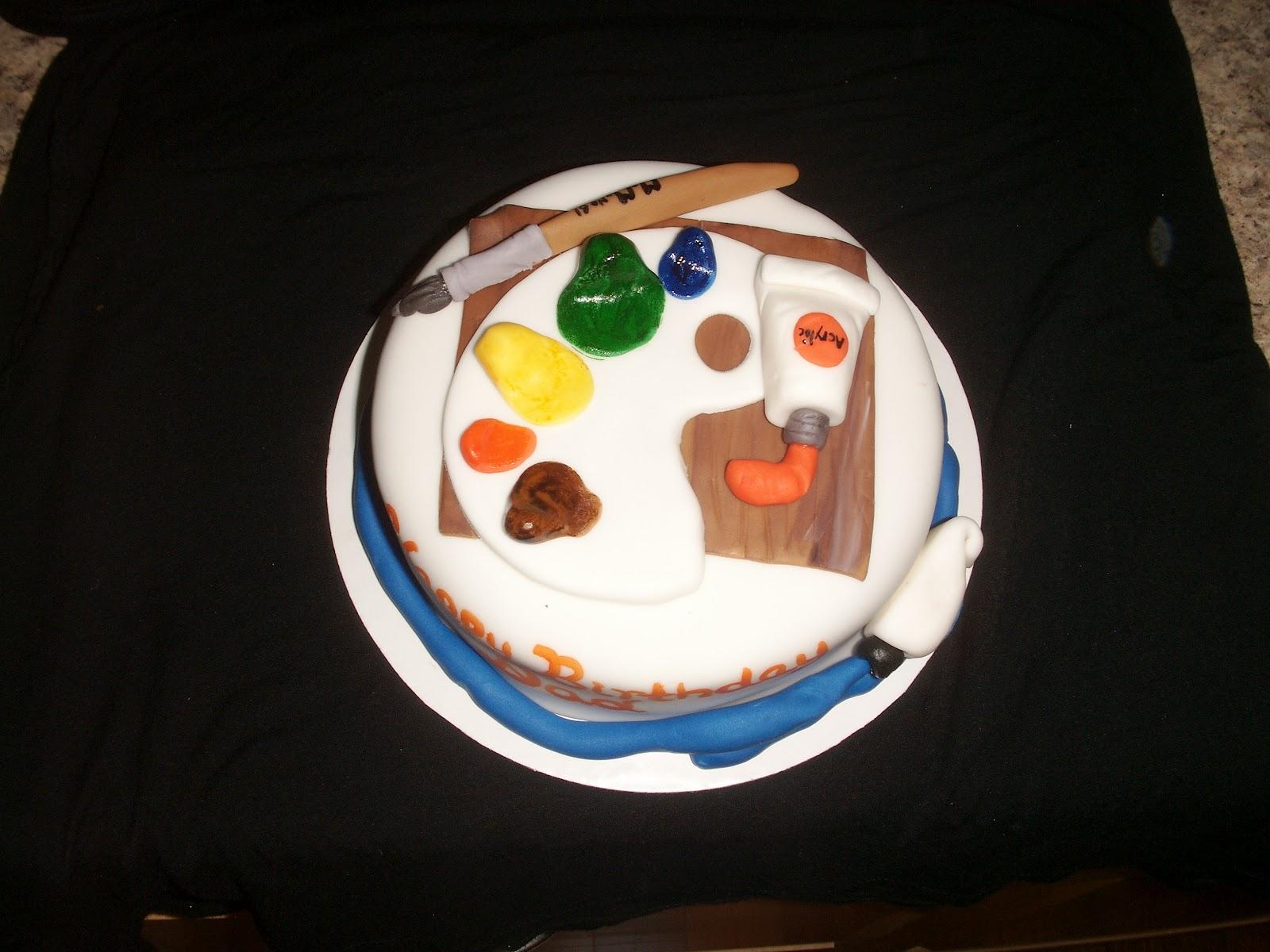 Artist s Palette Birthday Cake PoppyCake Boutique