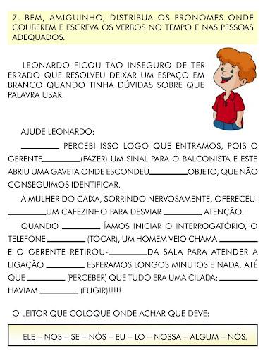 atividades gramaticaortografia 3 4 5 anos lingua portuguesa p