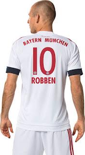 gambar detail jersey musim depan kualitas grade ori di enkosa sport  Detail Bagian belakang jersey Bayern Munchen away musim depan 2015/2016