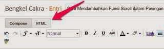 Cara Mendambahkan Funsi Scroll dalam Posingan Blog