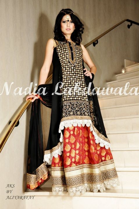Nadia Lakdawala Party Wear Dresses | Stylish Long Frock Fashion 2012