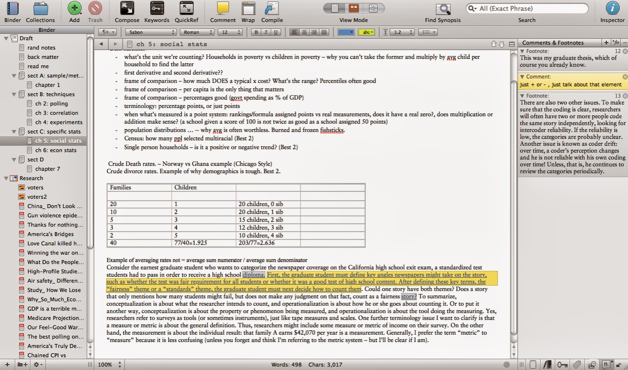 The Art Of Logic Scrivener Diagram Excel Document Editing Window Is Just Like Words Draft Or Online Layout View Binder Allows You To Sort Your Work Into Subdocuments