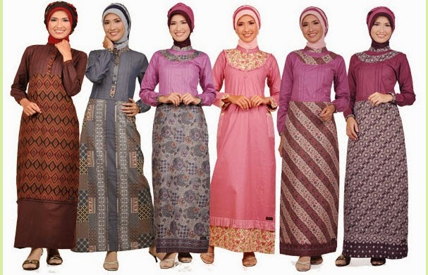 Baju Muslim Pesta Batik Terbaru