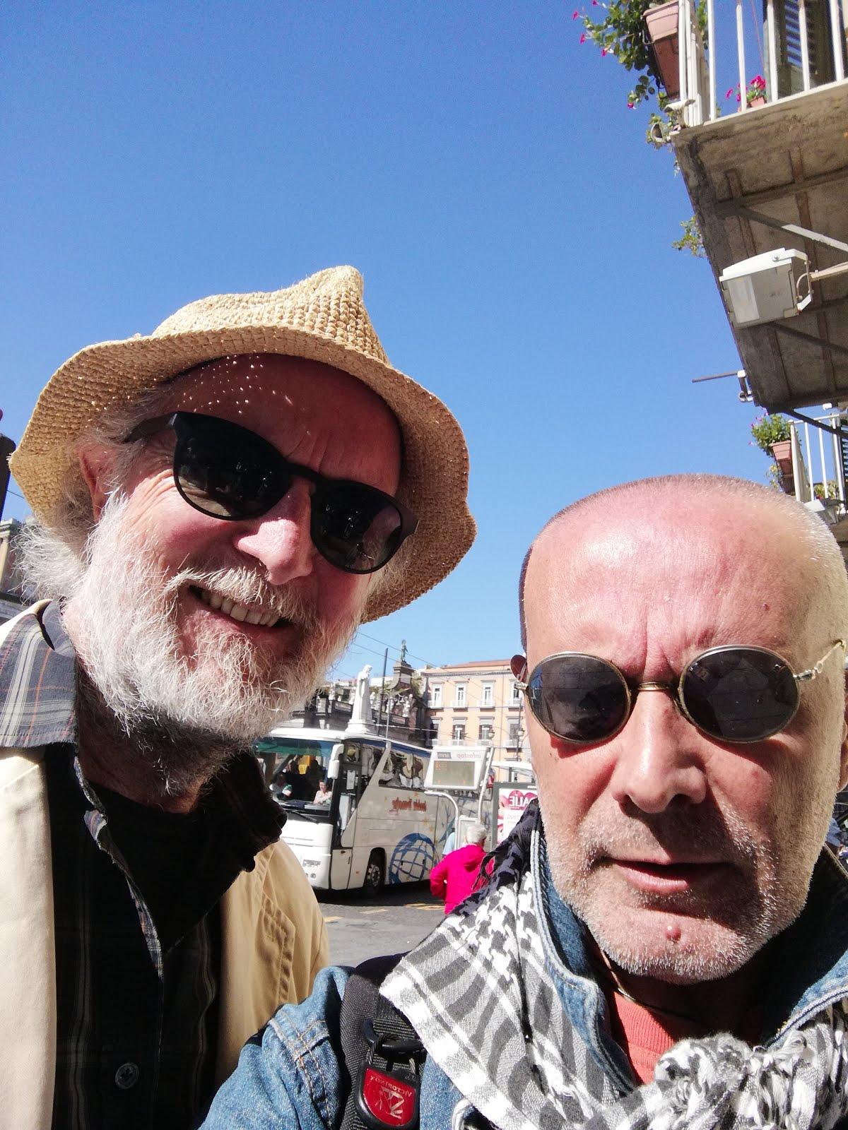 Antonio Tortora con il regista Lamberto Lambertini