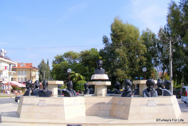 The Heads Fountain In Fethiye