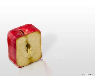 wallpaper unik dan kreatif buah apple