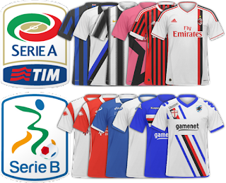 Football Manager Italy Serie A and Serie B kits