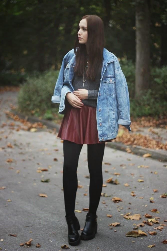 OOTD: Burgundy Skirt