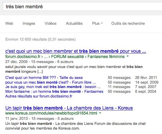 google est très bien membré pour les discussions tbm=dsc
