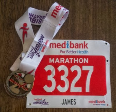 My finishers medal and race number