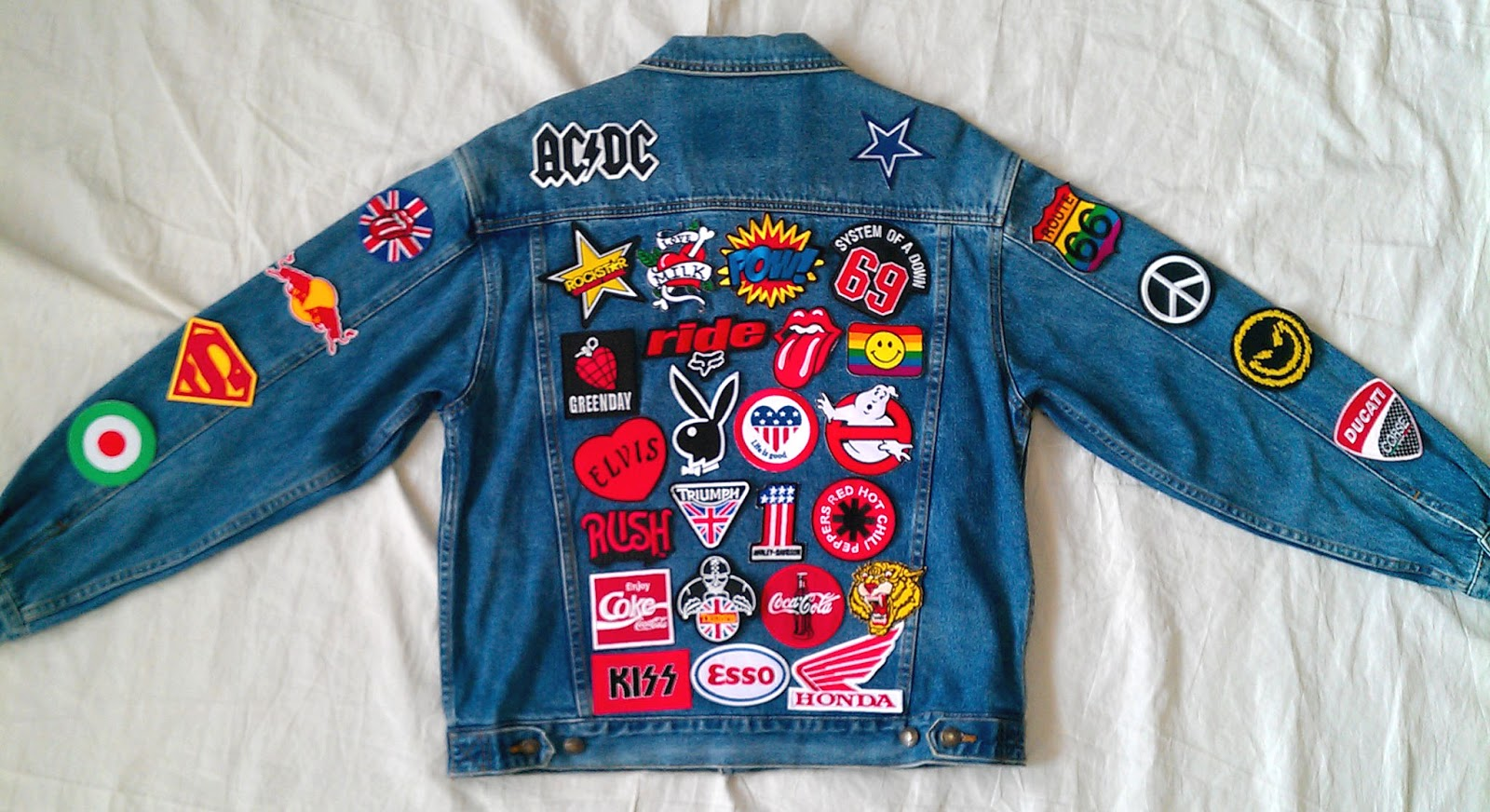Patched Denim / Reworked Vintage UNIQLO Jean Jacket With Patches Men Size L