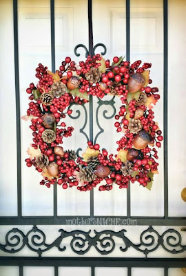 fall wreath pinecone craft