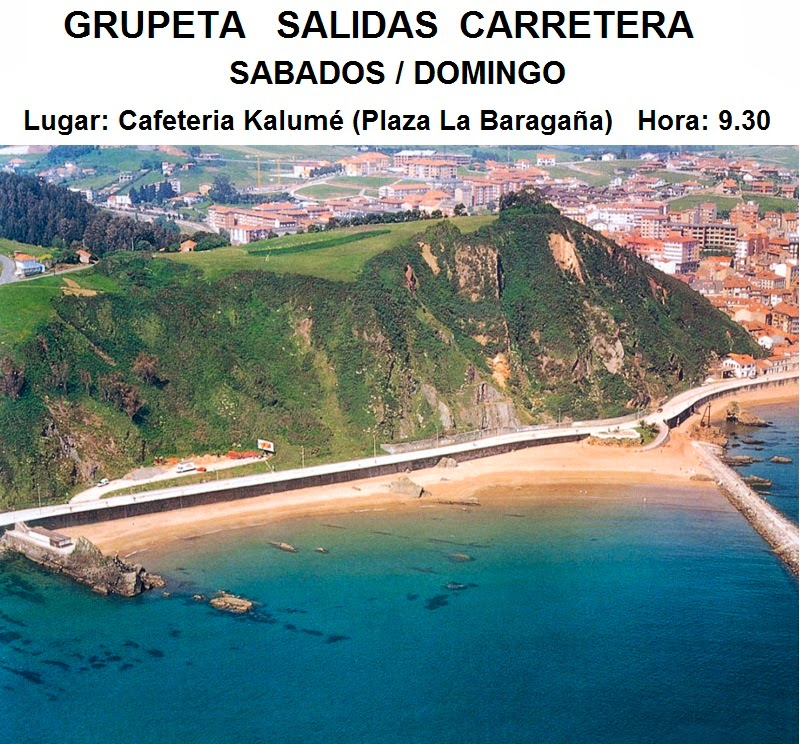 SALIDAS EN CARRETERA  CANDÁS  Sábados y Domingos   Lugar: Café Kalumé Candás  Hora: 9,30h