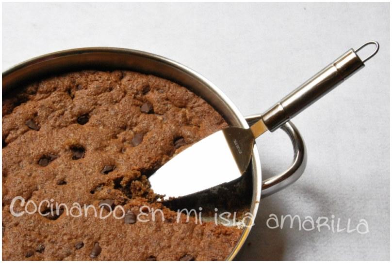MegaGalleta de chocolate paso a paso