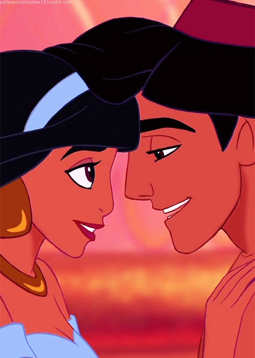 Aladdin Jasmine love animatedfilmreviews.filminspector.com