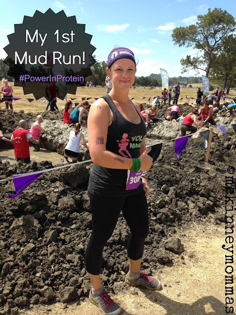 mud run, protein shake