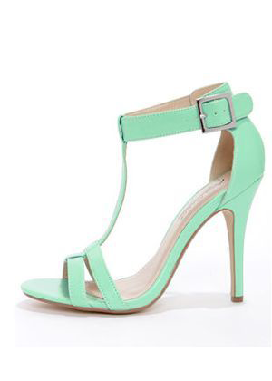 Stunning Mint Green High Heels