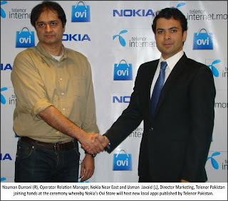 Telenor and Nokia Join Hands to promote Pakistani mobile Apps and local mobile content at OVI Store