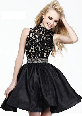 vestidos de festa curtos preto