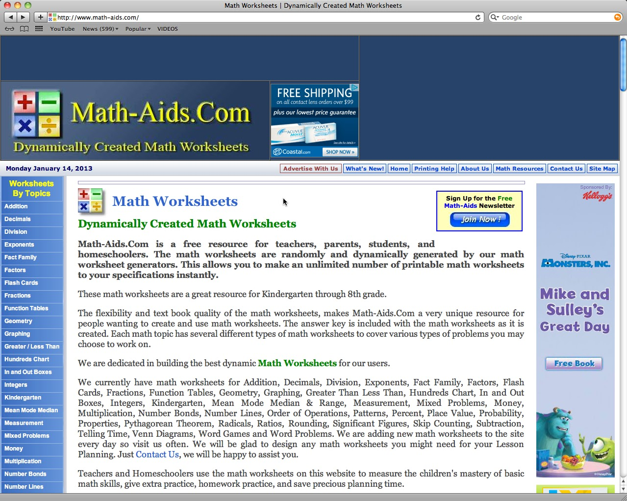 worksheet Math Aid Worksheets educational reviews math aids com not only does this site have worksheets for extra practice it will show the parents and explain what your child is doing so you can help them with their
