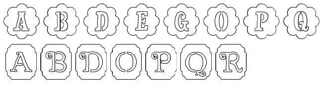 list of cricut stencil fonts