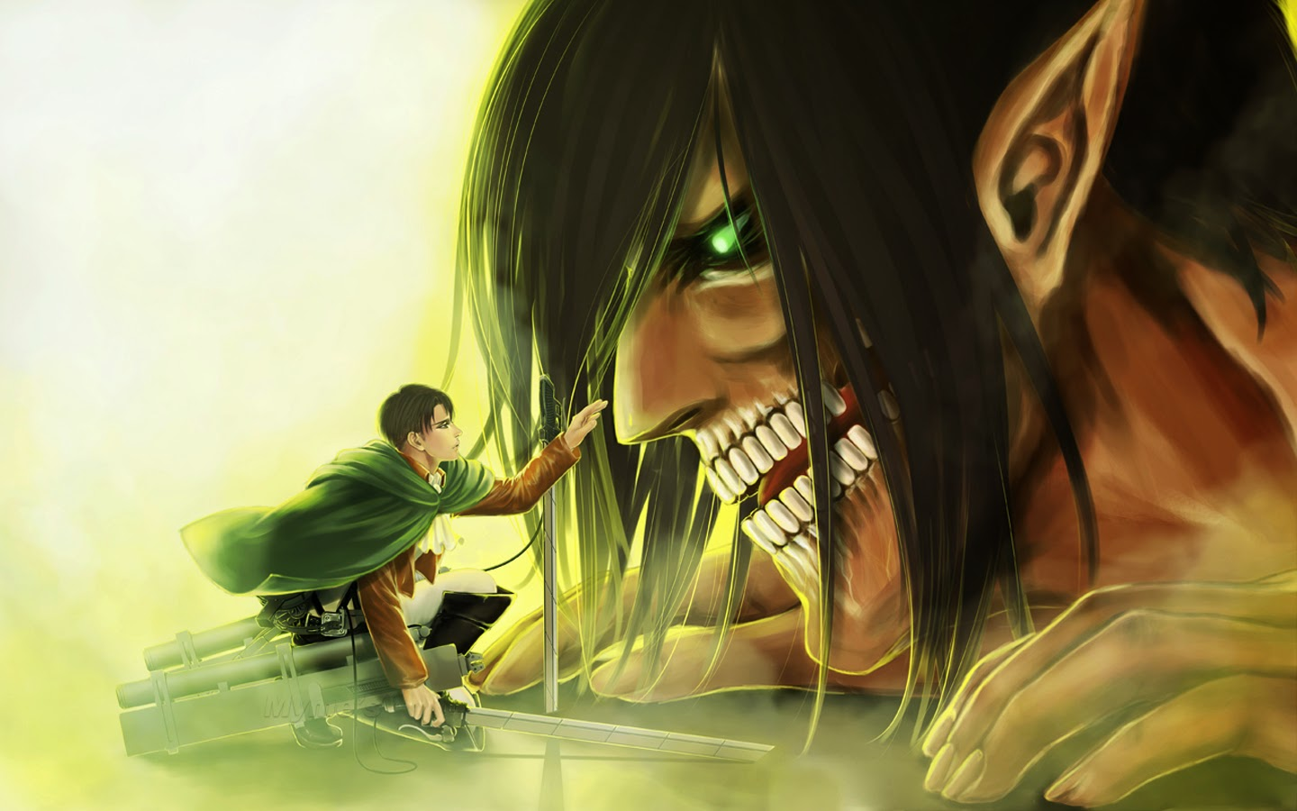 attack on titan levi x eren